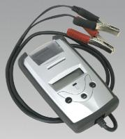 Sealey Battery Tester 6-12V, charging systems and control voltage of 12 V and 24 V, equipped with a printer