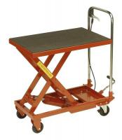 Sealey Platform trolley 70cm hydraulically lifted 150kg capacity.