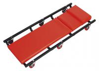 Sealey Workshop Couch American Style on 6 wheels with adjustable headrest.