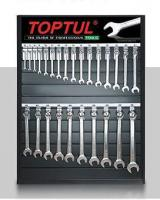 TOPTUL Tools Exhibition, Combination wrench, 26SZT, 6-32mm, the set does not contain an array TDAH7010 and hooks TEAA0105